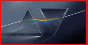Espectro de Luz Visible, doble prisma de newton, refracción de la luz, colores arco iris, luz blanca