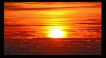 espectro de luz visible en una puesta de sol al atardecer