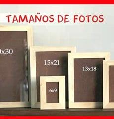 tamaños de fotos