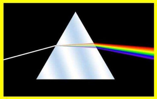 prisma descomposición de la luz ejemplo de imagen del espectro de luz