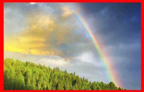 arco iris imagen de ejemplo de espectro de luz visible, los colores del arco iris